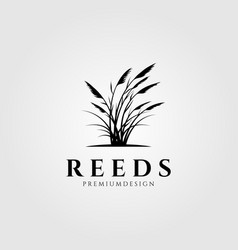 Vintage reeds logo symbol design vector