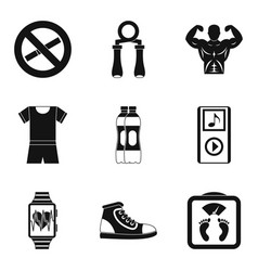 Water replenishment icons set simple style vector