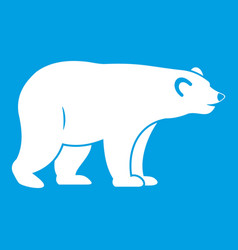 Wild bear icon white vector