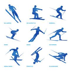 winter sports icon set 3 vector image