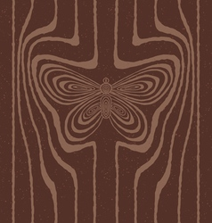 Wood grain stylized as butterfly vector image