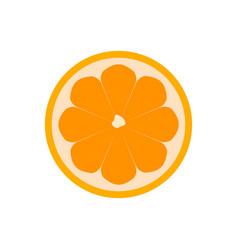 Yellow orange fruit icon isolated vector