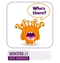 a monster saying whos there vector image vector image