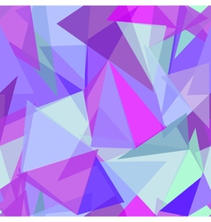 Abstract polygonal purple and blue triangular vector image