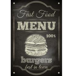 Burger Menu vector image
