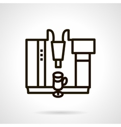 Coffee cocktails maker simple line icon vector image