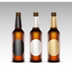 Set of Transparent Bottles with labels Light Beer vector image vector image