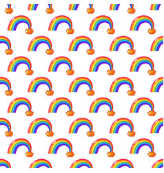 simple rainbow and money pot background seamless vector image vector image