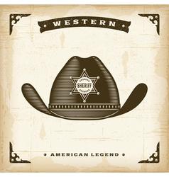 Vintage Western Sheriff Hat vector image
