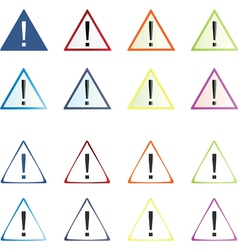 attention icons set vector image vector image