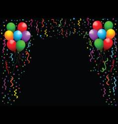 balloons and streamers vector image