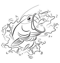 Drawing fishing vector image vector image