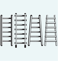 Ladder against the wall vector image