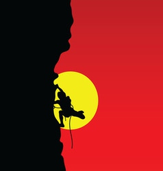 mountaineer color vector image