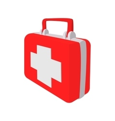 Red medicine chest cartoon icon vector image