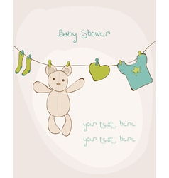 baby shower card with place for your text in vector image vector image
