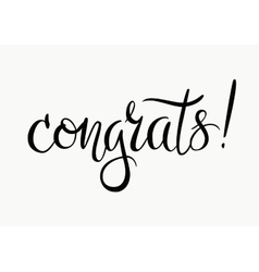 Congrats Congratulations card vector image