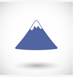 fuji mountain flat icon vector image