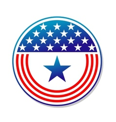 Patriotic American stars and stripes button vector image vector image