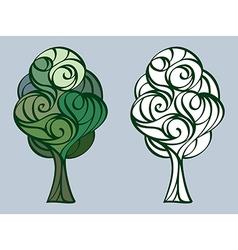 tree 17 vector image vector image