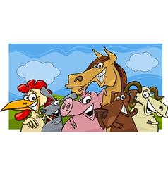 animals group farm m vector image vector image