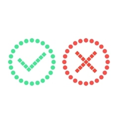 check marks of simple shapes vector image