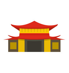 chinese temple icon isolated vector image vector image