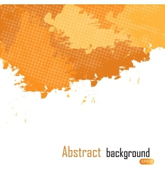 Orange abstract paint splashes background w vector image