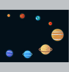 orbits of the planets of the solar system vector image