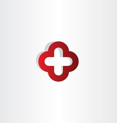 red cross plus logo sign vector image vector image