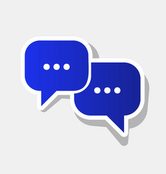 speech bubbles sign new year bluish icon vector image