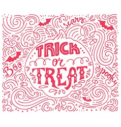 Trick-or-treat lettering vector image