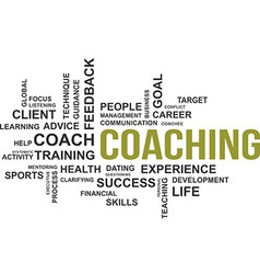 word cloud coaching vector image vector image