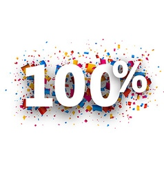 100 sign vector image