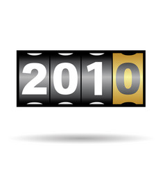 2010 year vector image