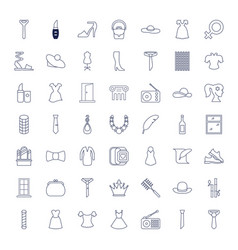 49 elegance icons vector