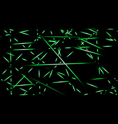 abstract background light lines color green vector image