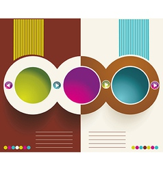 Advertising brochure design template vector