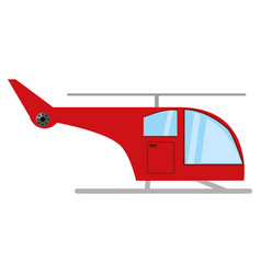 aircraft helicopter isolated vector image