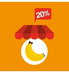 Banana discount shop online icon vector