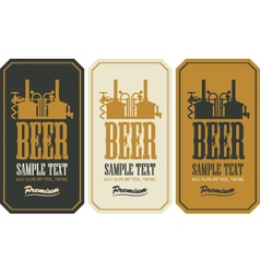 Beer label set vector