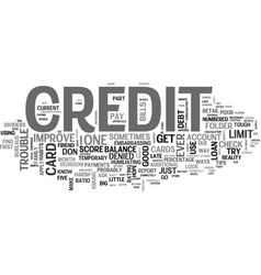 best way to improve credit score text word cloud vector image