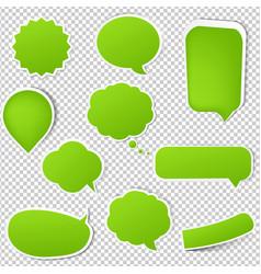 big green eco labels set vector image
