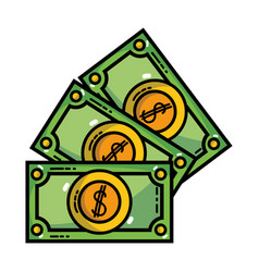 Bills cash money and economy finance vector