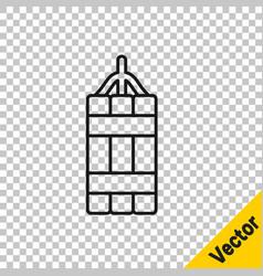 black line detonate dynamite bomb stick icon vector image