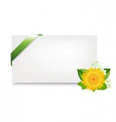 Blank gift tag with daisy vector