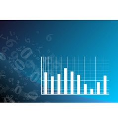 blue graph vector image