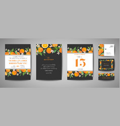 botanical wedding invitation card save date vector image
