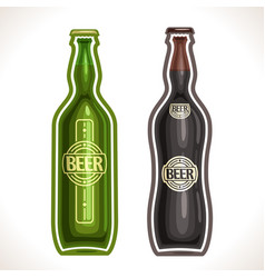 bottles beer vector image