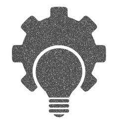 Bulb Configuration Gear Grainy Texture Icon vector